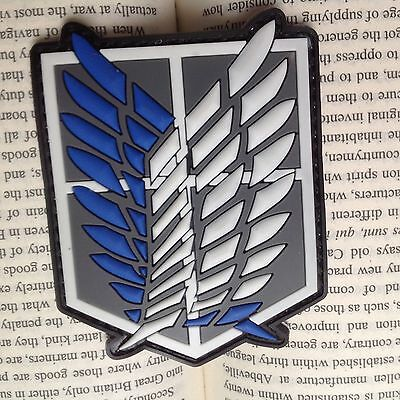 AU7.52 • Buy NEW Attack On Titan-The Survey Corps Badge Wings Of Freedom Rubber Patch