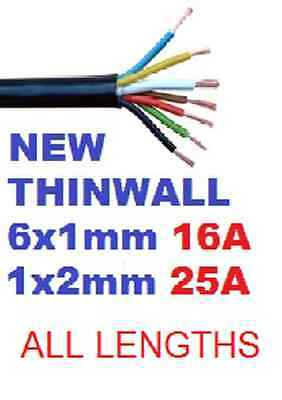 7 Core Automotive Cable Towing Trailer Cable Thinwall Multicore Heavy Duty 12v • 5.49£