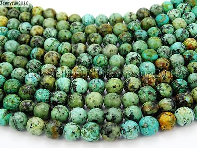 $ CDN7.53 • Buy Natural African Turquoise Gemstone Faceted Round Beads 15.5'' 6mm 8mm 10mm 12mm