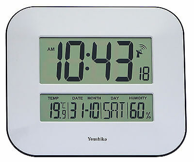 £26.99 • Buy Jumbo LCD Radio Controlled Wall Clock With Temperature  And Humidity Display