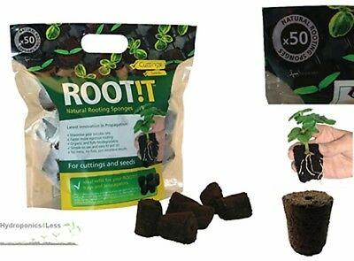 £13.99 • Buy ROOT IT Rooting 50 Natural Sponge Cubes Refill Propagation Peat & Bark ROOT!T