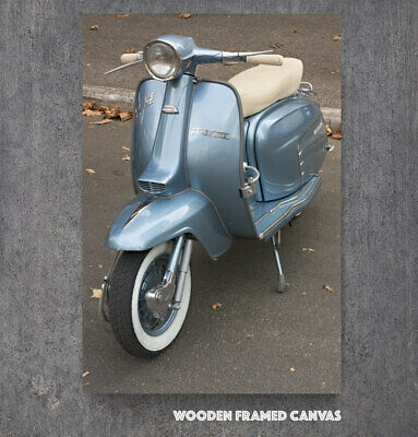 Vintage Italian Lambretta Scooter Canvas Picture #832 Mods Scooter Wall Art • 29.99£