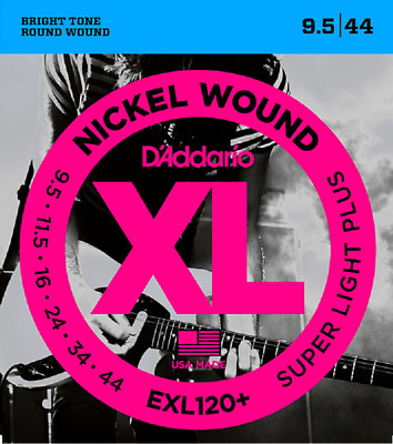 $ CDN17.48 • Buy 3 Sets D'Addario EXL120+ -3D Super Light Plus Electric Guitar Strings 9.5