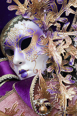 £29.99 • Buy Stunning Canvas Venetian Carnival Mask #7 Romantic Wall Hanging Picture Art A1
