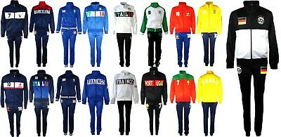 Football Tracksuit Set Bottom Top Training Kit Boys New Size Age 4-12 Years Bnwt • 16.99£