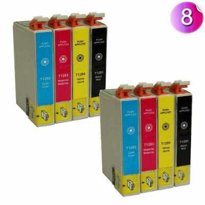 8pk Compatible Series Ink Cartridges For Epson Stylus Inkjet Printer T1285 • 6.95£