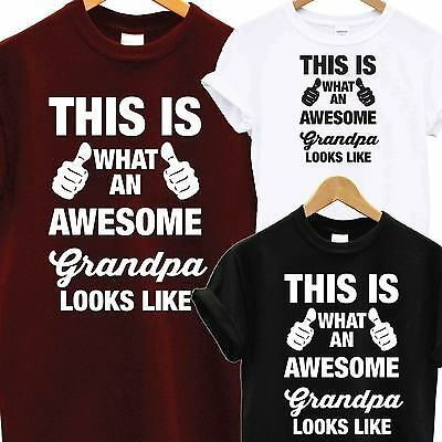 Awesome Super Grandpa Grandad Dad T Shirt Xmas Christmas Birthday Gift Tee Top  • 5.99£