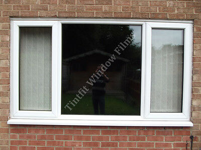 Total Blackout Privacy Glass Window Film Block Out 100% Light Black Tint Tinting • 28.99£