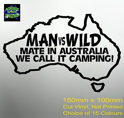 AU6.90 • Buy New 150mm Funny Aussie BNS Offroad 4x4 Ute Camping Car Stickers MAN Vs WILD