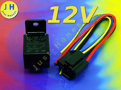 KIT RELAIS 12V/40A Mit/with Sockel / Socket RELAY  KFZ/Automotive Quality #A898 • 6.14£