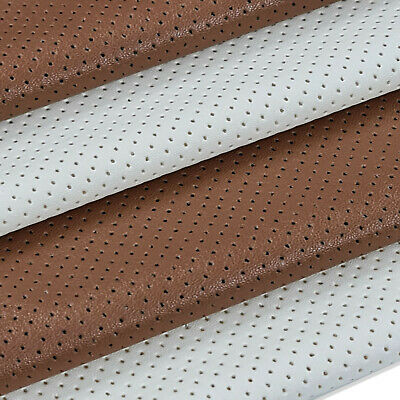 FAUX LEATHER PU Aertex Eyelet Fabric Fat Square,Stretch Soft Material Neotrims • 0.99£