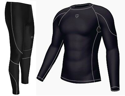 Men's Compression Armour Base Layer Top & Legging Running Skin Fit Tight • 22.95£