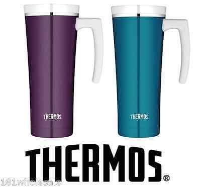 AU37.85 • Buy ❤ THERMOS 470ml STAINLESS STEEL TRAVEL MUG Insulated Cup Coffee Tea 2 DESIGNS