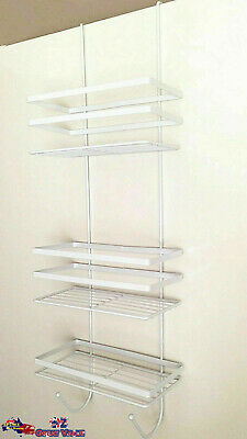 AU33.99 • Buy Over Door Shower Caddy Chrome Metal 3 Tier Storage Rack Bathroom 1053B OZ