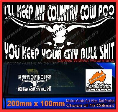 AU6.90 • Buy 200mm Funny Aussie BNS Ute 4X4 Horse Truck Car Stickers COUNTRY COW POO