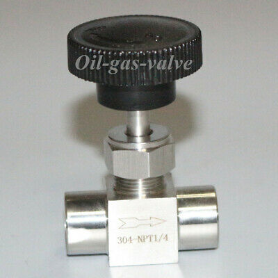 $10.83 • Buy Needle Valve Ball Valve 1/4  Inch NPT Stainless Steel High Pressure Water Gas US