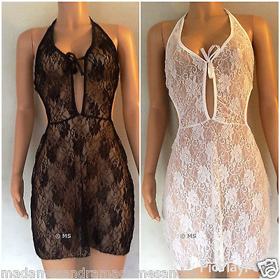 £12.20 • Buy See Through Babydoll Sheer Negligee Daring Chemise Big Size Lingerie 12 14 16 18