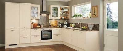 Bevel Edge Matt Cream Kitchen Cabinet Cupboard Doors Fit Howdens MFI Magnet B&Q • 32£