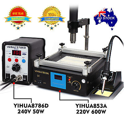 AU229.45 • Buy FOR YIHUA Hot Air Gun Soldering Iron Rework Station Preheat Stand Holder BGA SMD