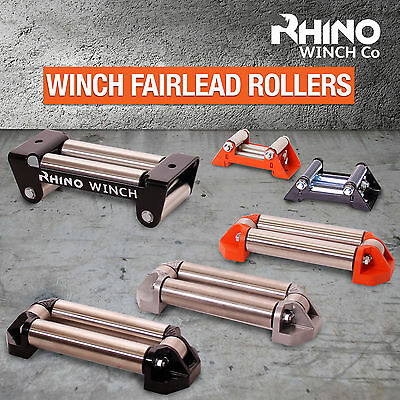 RHINO Winch Fairlead Rollers ~ Heavy Duty Compact - Cable Guide Fits All Winches • 36.99£
