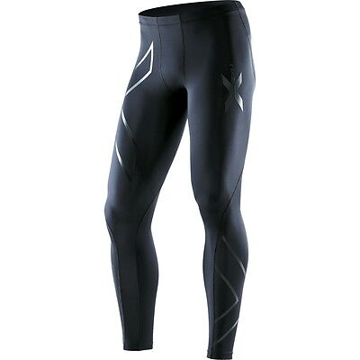 Bargain | 2XU Mens Recovery Compression Tights | Black/Black | Free Delivery*** • 101.35£