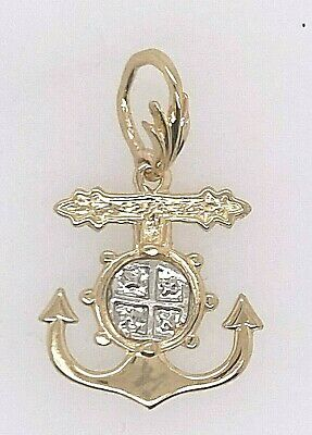 ATOCHA Coin 14K Yellow Gold  Anchor Ship Wheel Sunken Treasure Shipwreck Jewelry • 159$