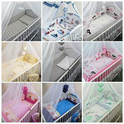 £35.99 • Buy Cot & Cotbed Bedding Set Long All Round Large Bumper 3 Pcs 5 6 Piece