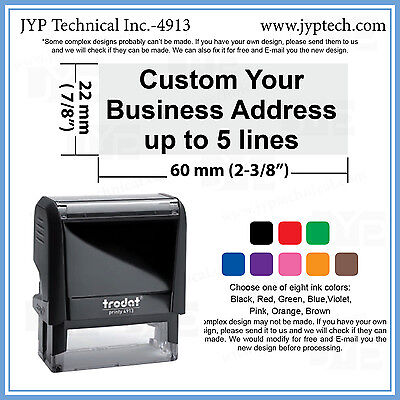 $19.99 • Buy Business Address Stamp With Extra Line For Phone Number Or E-mail Address 4913
