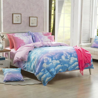 AU29.99 • Buy Cloud Nature Quilt/Duvet/Doona Cover Set Single Double Queen King Size Bedding