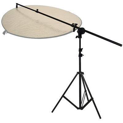 PhotR Collapsible Reflector Holder Boom Arm + 3m Photo Studio Light Stand Tripod • 27.95£