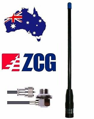 AU82 • Buy ZCG GRN480 UHF CB Flexi 4dbi Super Rugded Antenna +cable + Connector NEW