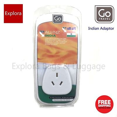 AU17.50 • Buy Go Travel Earthed Adaptor From AU / NZ To INDIA
