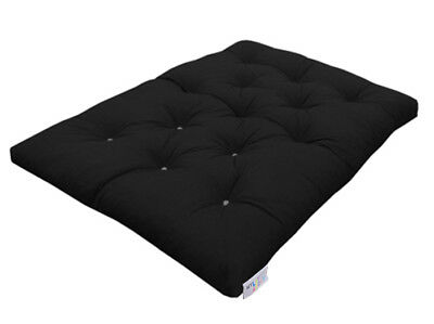 £152.99 • Buy MyLayabout Crumb Futon Mattress | Roll Out Guest Bed | Black | 190cm X 140cm