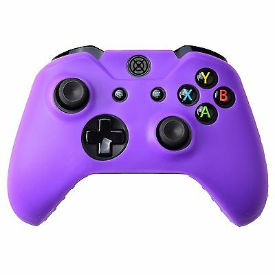 AU13.90 • Buy Silicone Soft Case Protect Skin For Xbox One Wireless Controller Violet Purple