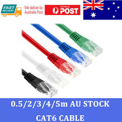 AU2.89 • Buy Premium SAA Certified Cat6 Network Cable RJ45 LAN Ethernet 50CM To 5M Solid Copp