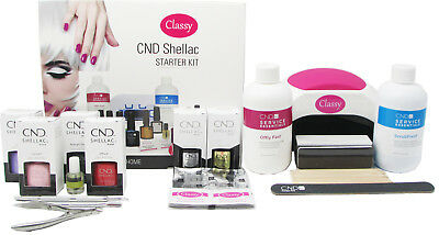 £129.95 • Buy CND Shellac Deluxe Nail Gel Kit Classy Nails 48W PRO LED Lamp 100% GENUINE