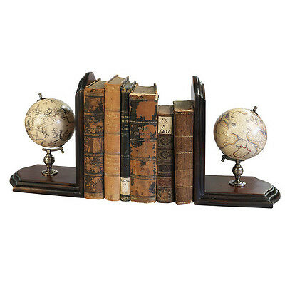 Celestial Terrestrial World Globe Book Ends Pair By Authentic Models  • 114.49$