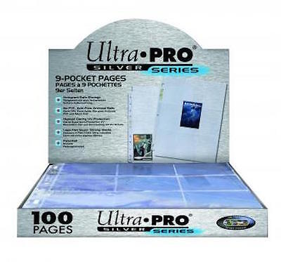 Ultra Pro 9-Pocket Pages Clear Trading Card Silver Sleeves Pokemon/MTG 10-100 • 3.49£