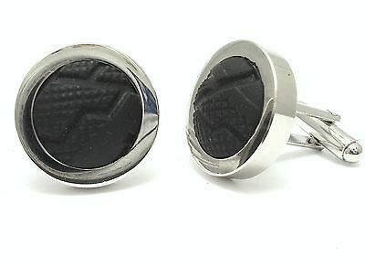 £16.95 • Buy Bike Tyre Cufflinks Made From Real Bicycle Tyres Wedding Gift Cycling Fan Chain