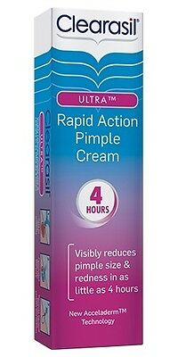 Clearasil Ultra Rapid Action Pimple Cream 15g Reduce Pimple Redness • 9.60£