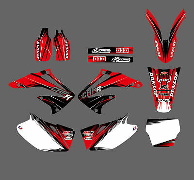 $46.54 • Buy Team Graphics & Backgrounds Decal Sticker For Honda CRF450 CRF450R 2002 03 04 D6