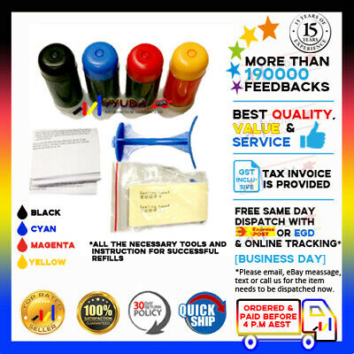 AU16.80 • Buy 4x NoN-OEM Refill Kit PG-645 XL CL-646 XL Ink For Canon MG-2560 MG2560 Printer