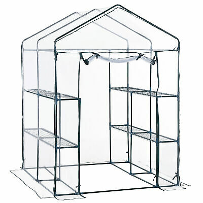 Outsunny Large Walk In Greenhouse Garden Outdoor Plant Grow 1.43Lx1.43Wx1.95H M • 56.99£