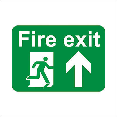 Fire Exit Sign Engraved 10-30 Cms,Emergency Escape Fire Drill Plastic Sign • 3.29£