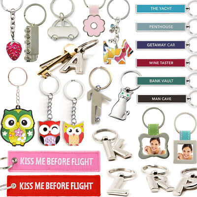 £5.50 • Buy ALPHABET METAL KEYRING Initial Letter Charm Name Chain Fob Home Accessory Gift