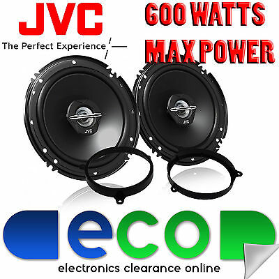 Toyota Avensis Upto 14 JVC 16cm 6.5 Inch 600 Watts 2 Way Rear Door Car Speakers • 29.99£