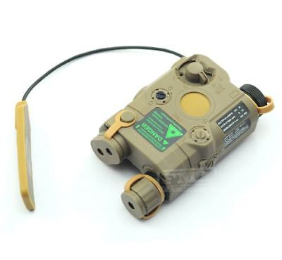 Airsoft Peq-15 Laser Light Torch Ir Pressure Pad Ris 20Mm Rail M Series Tan De • 42.95£