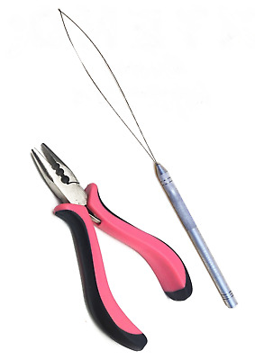 $10.45 • Buy Professional Nano Ring Hair Extensions Pliers 5  & 1 X Puller Uk Stock Free Post