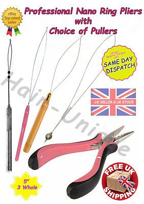 $9.07 • Buy Professional Nano Ring Hair Extensions Pliers 5  & 1 X Puller Uk Stock Free Post