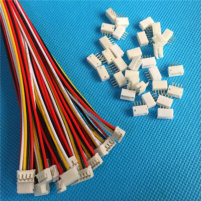 AU5.96 • Buy 40 SETS Mini Micro ZH 1.5 4-Pin JST Connector With Wires Cables